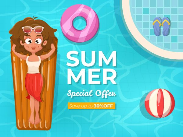 Summer Background With Swimming Pool - Free