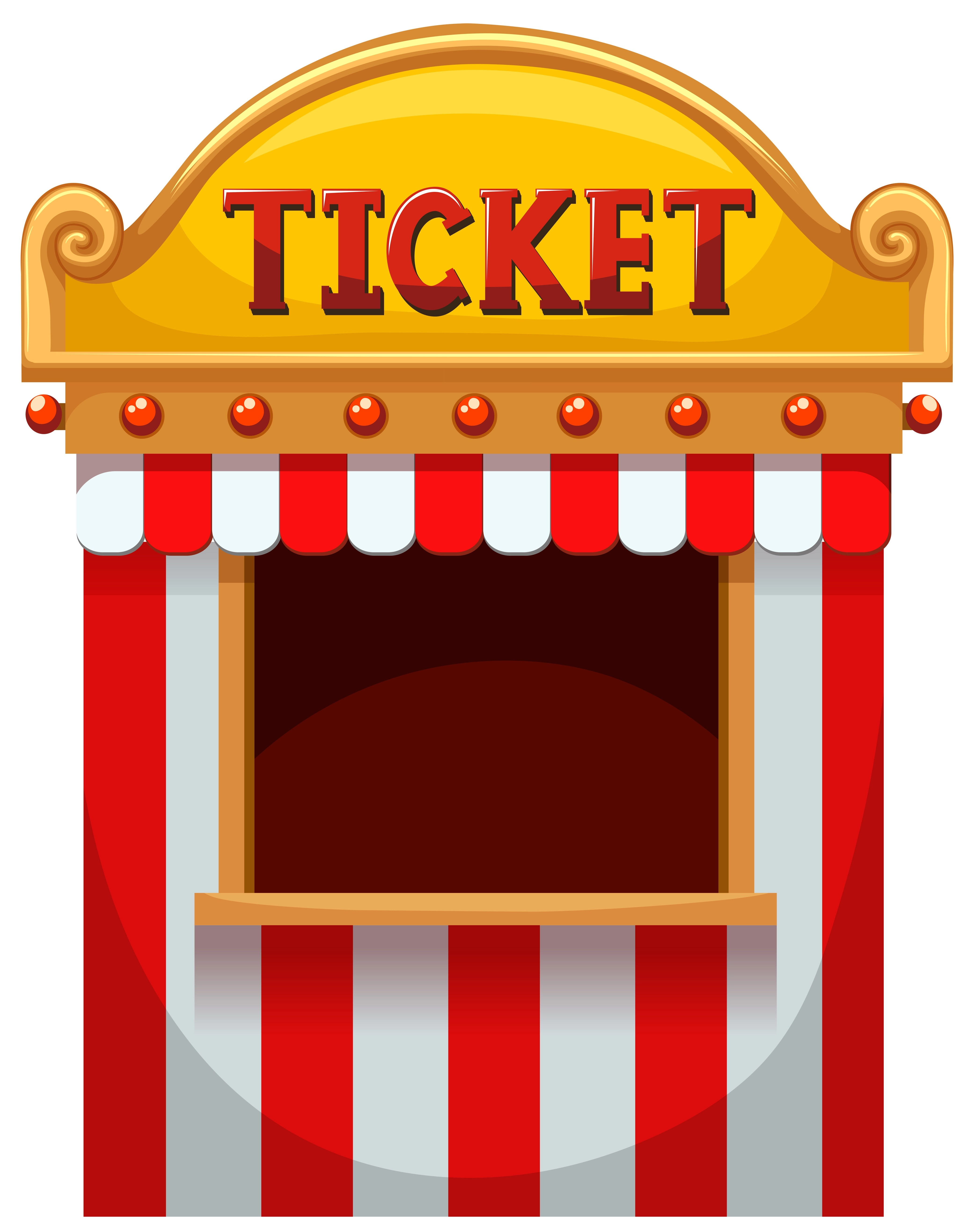 Booth Clipart : booth, clipart, Ticket, Booth, Carnival, 589351, Download, Vectors,, Clipart, Graphics, Vector