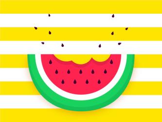 Watermelon Slice Pop Background Vector Download Free Vectors Clipart Graphics & Vector Art