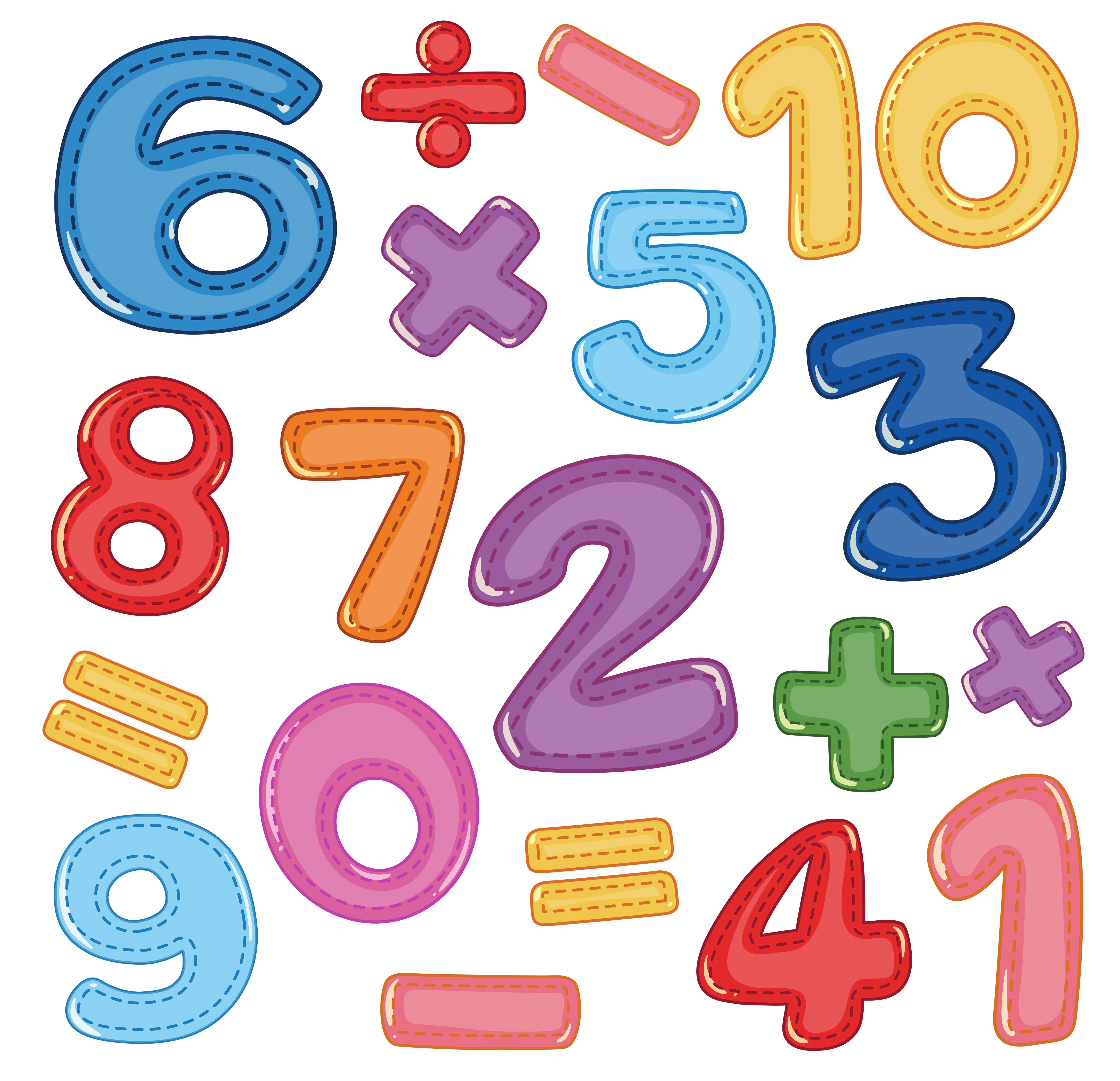 A Set Of Number And Math Icon