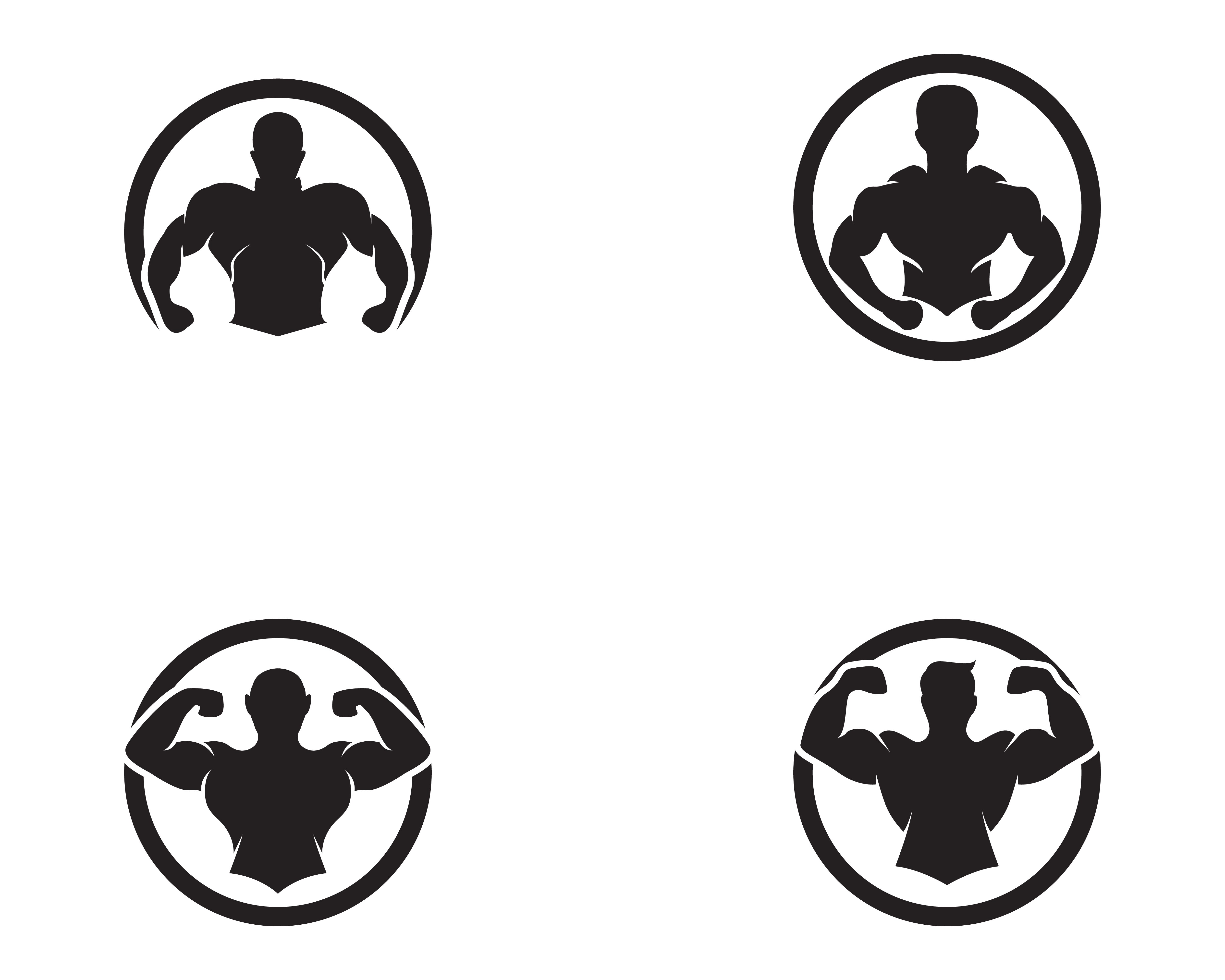 Vector Object And Icons For Sport Label Gym Badge