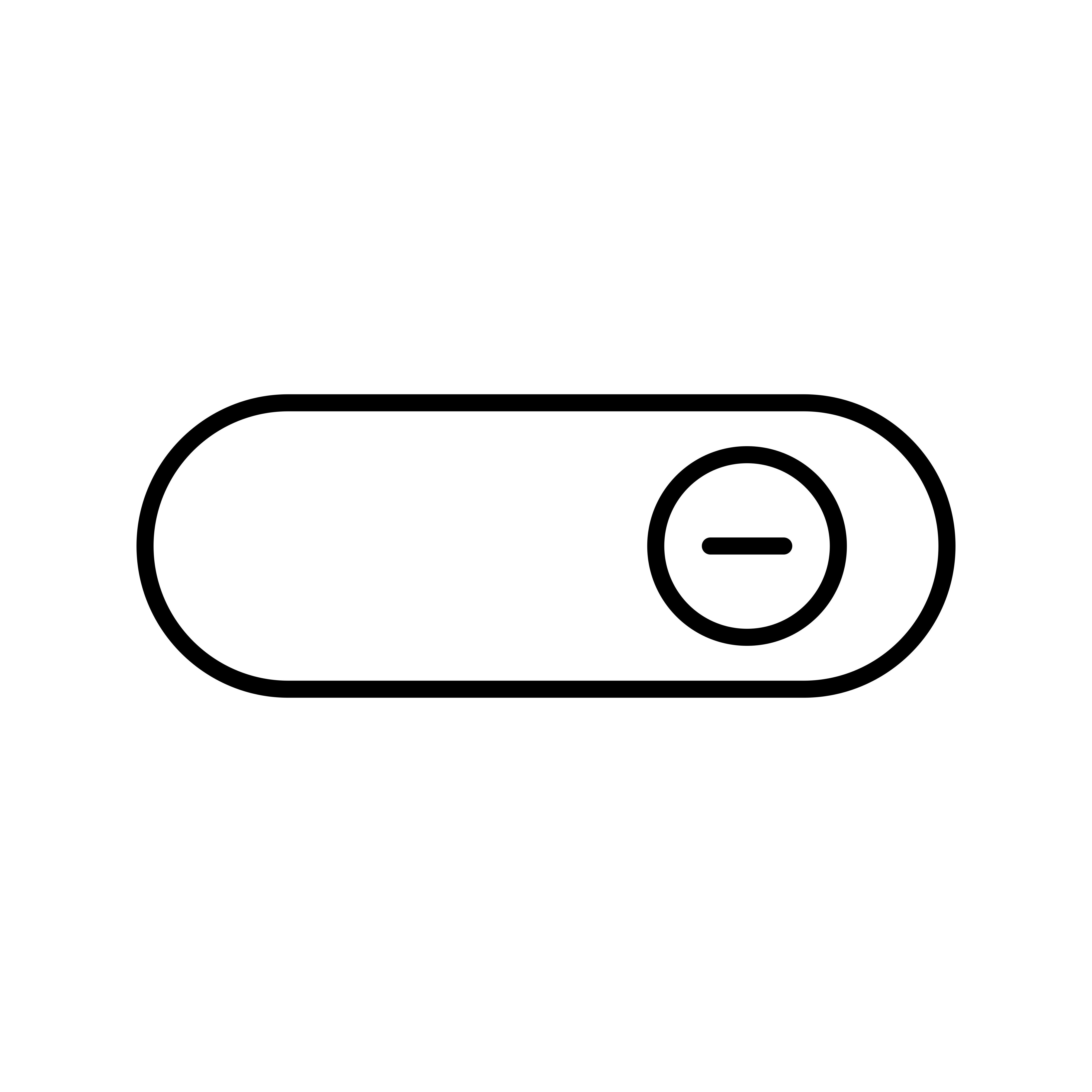 Switch On Line Black Icon