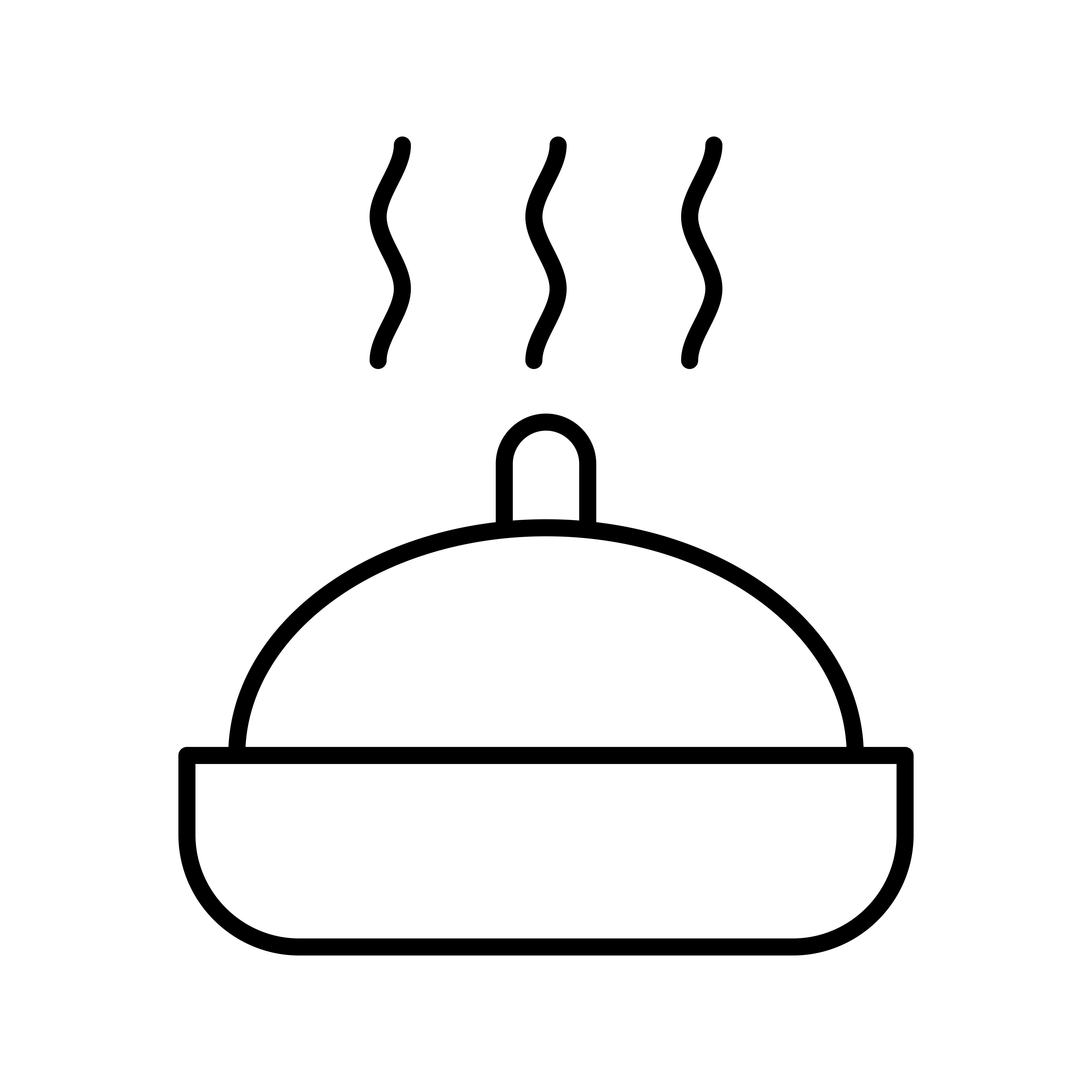 Beautiful Hot Food Line Black Icon