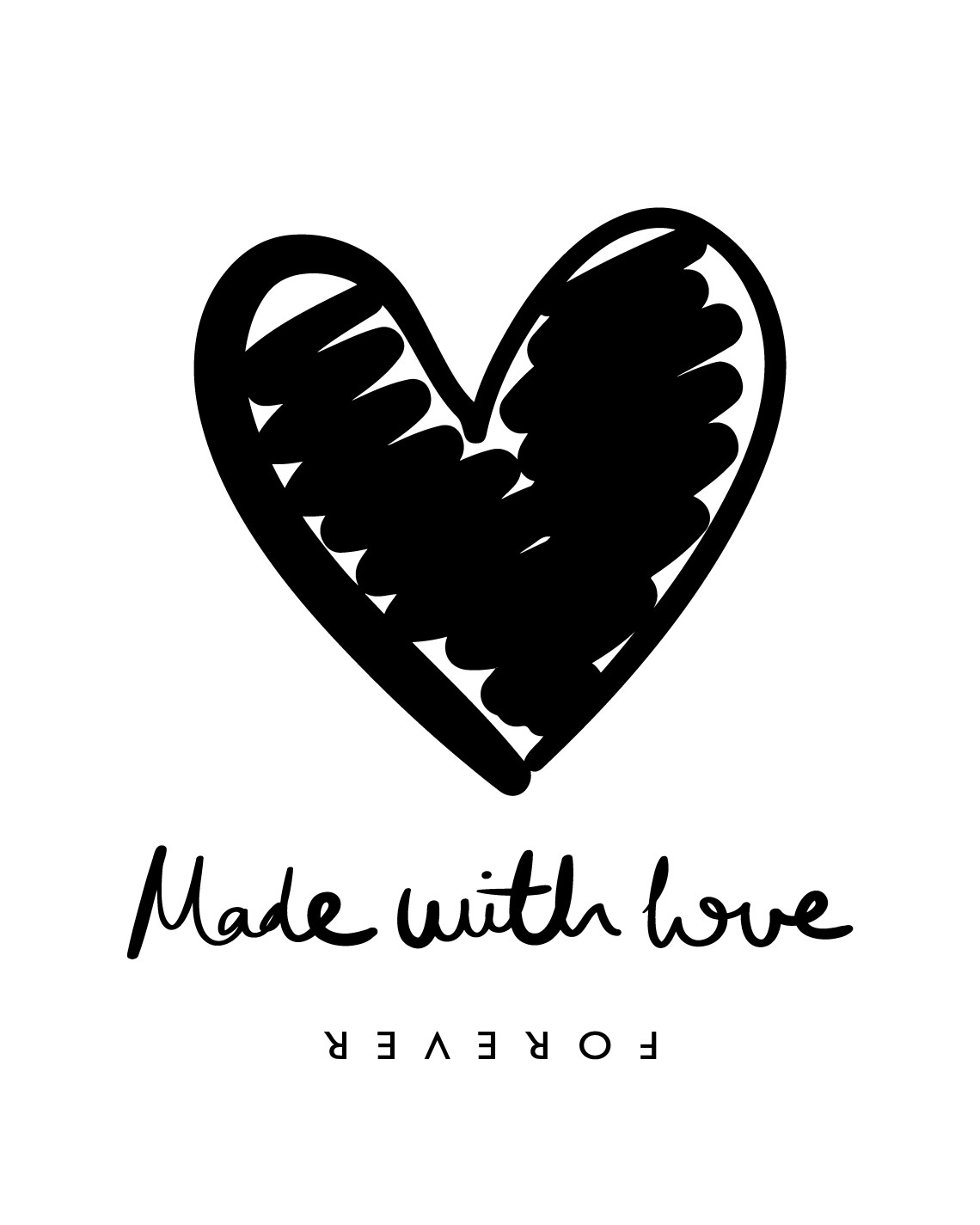 Download Heart shape and made with love text design - Download Free ...