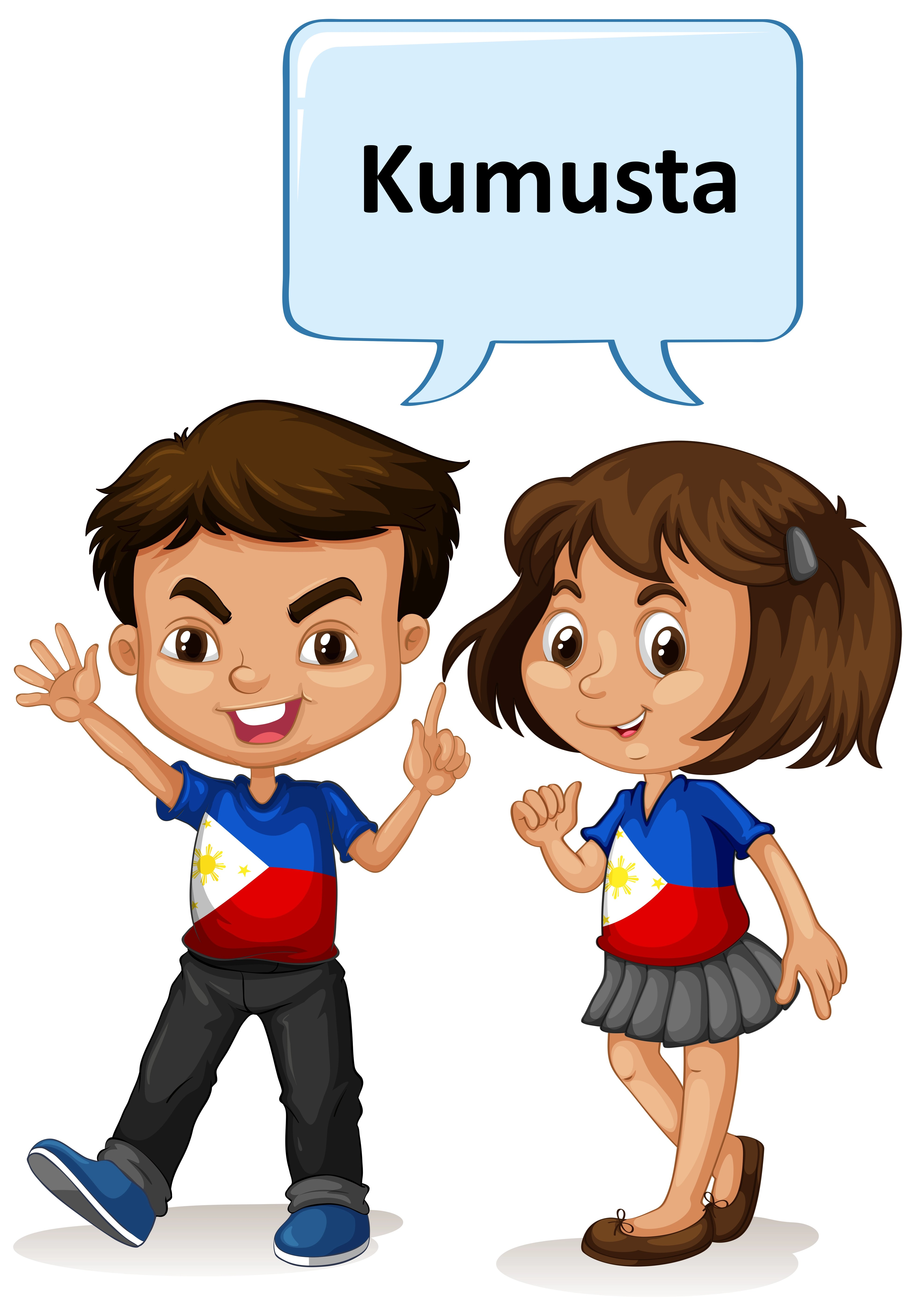 Philippino Boy And Girl Greeting