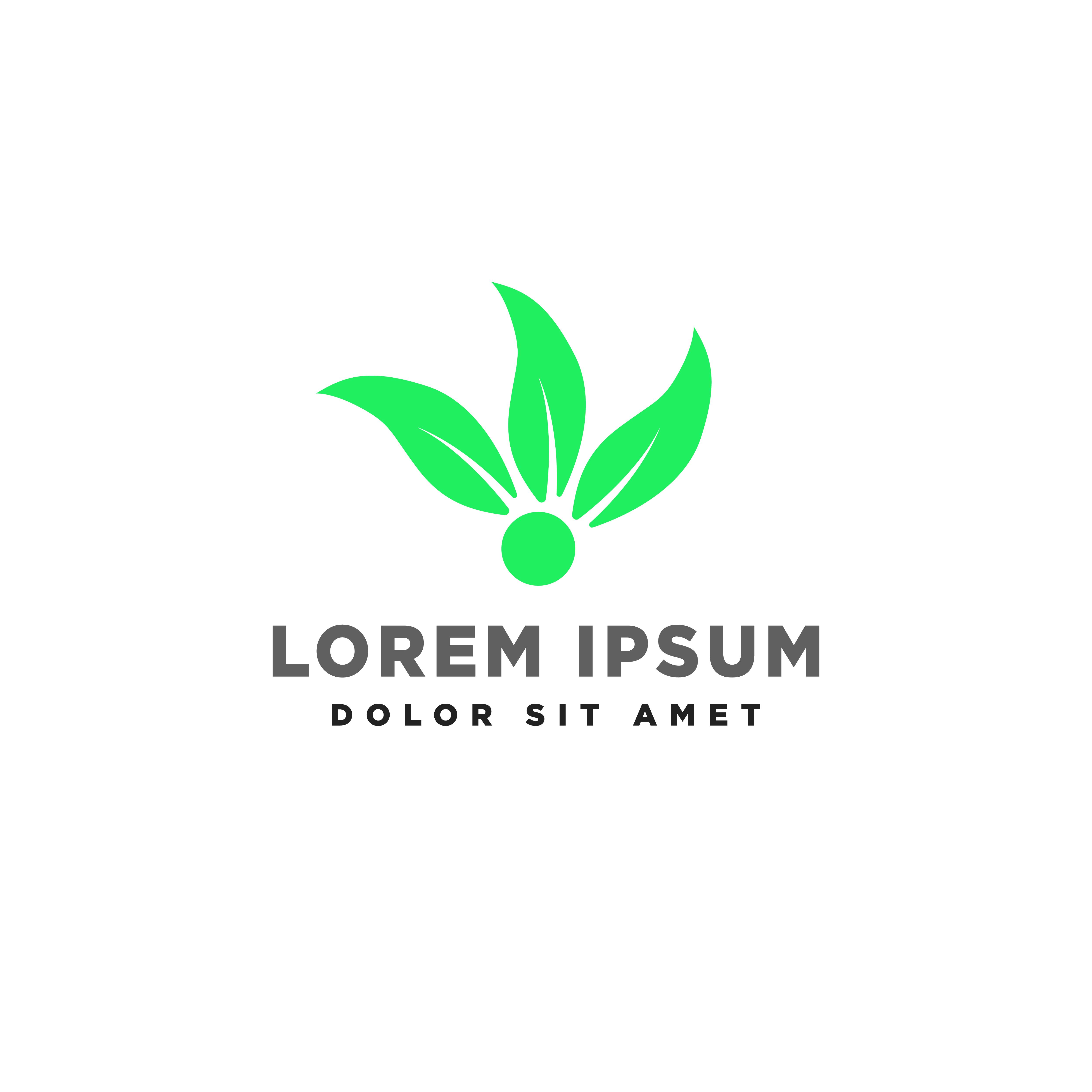 Leaf Green Eco Creative Logo Template Vector Illustration