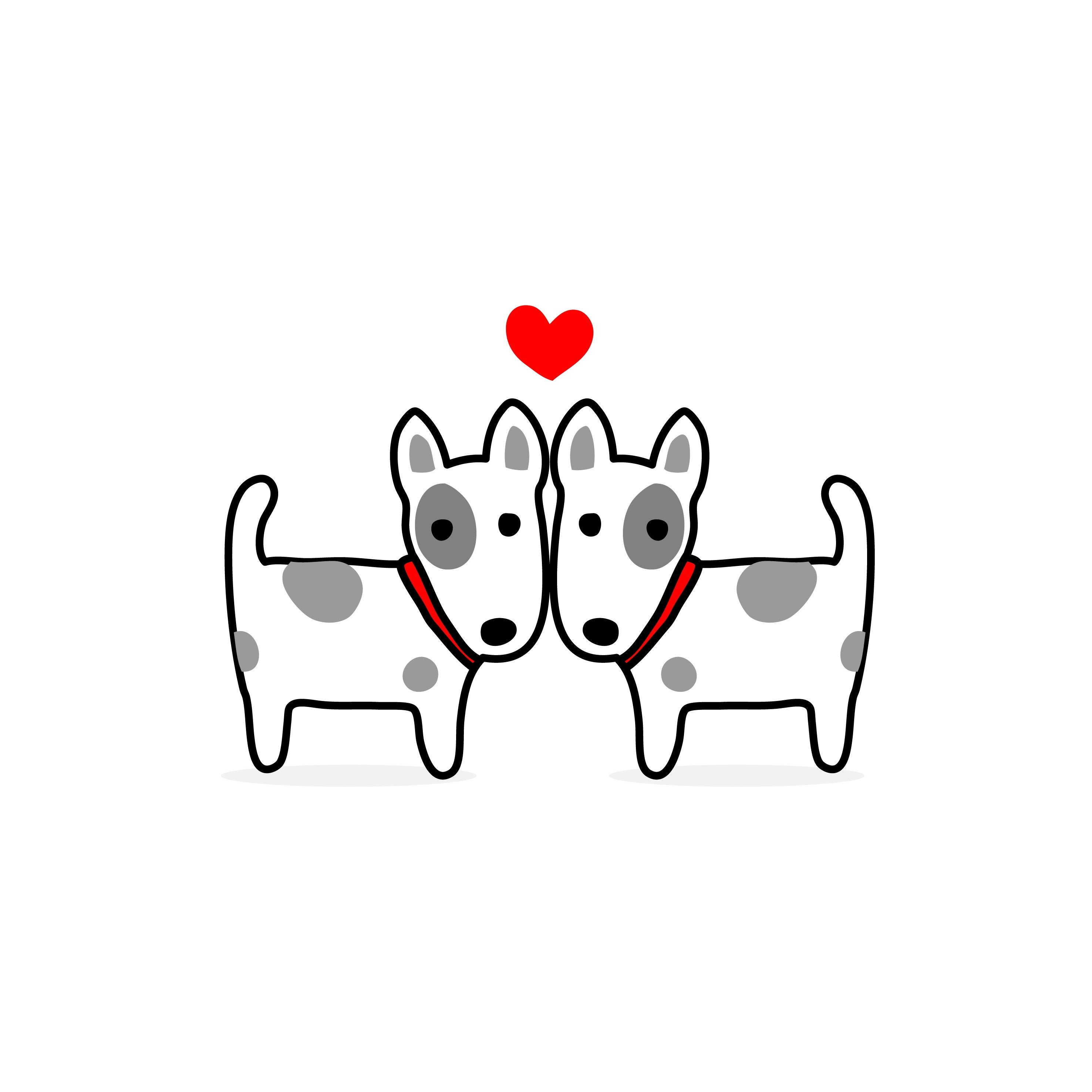 Valentine S Day Illustration Couple Terrier Dog In Love