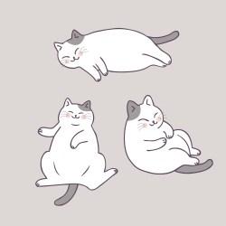 sleeping cat cartoon cute vector clipart graphics