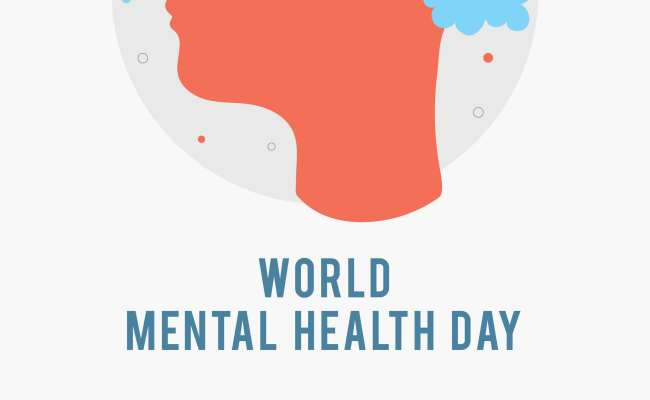 World Mental Health Day Poster Template Silhouette Of A