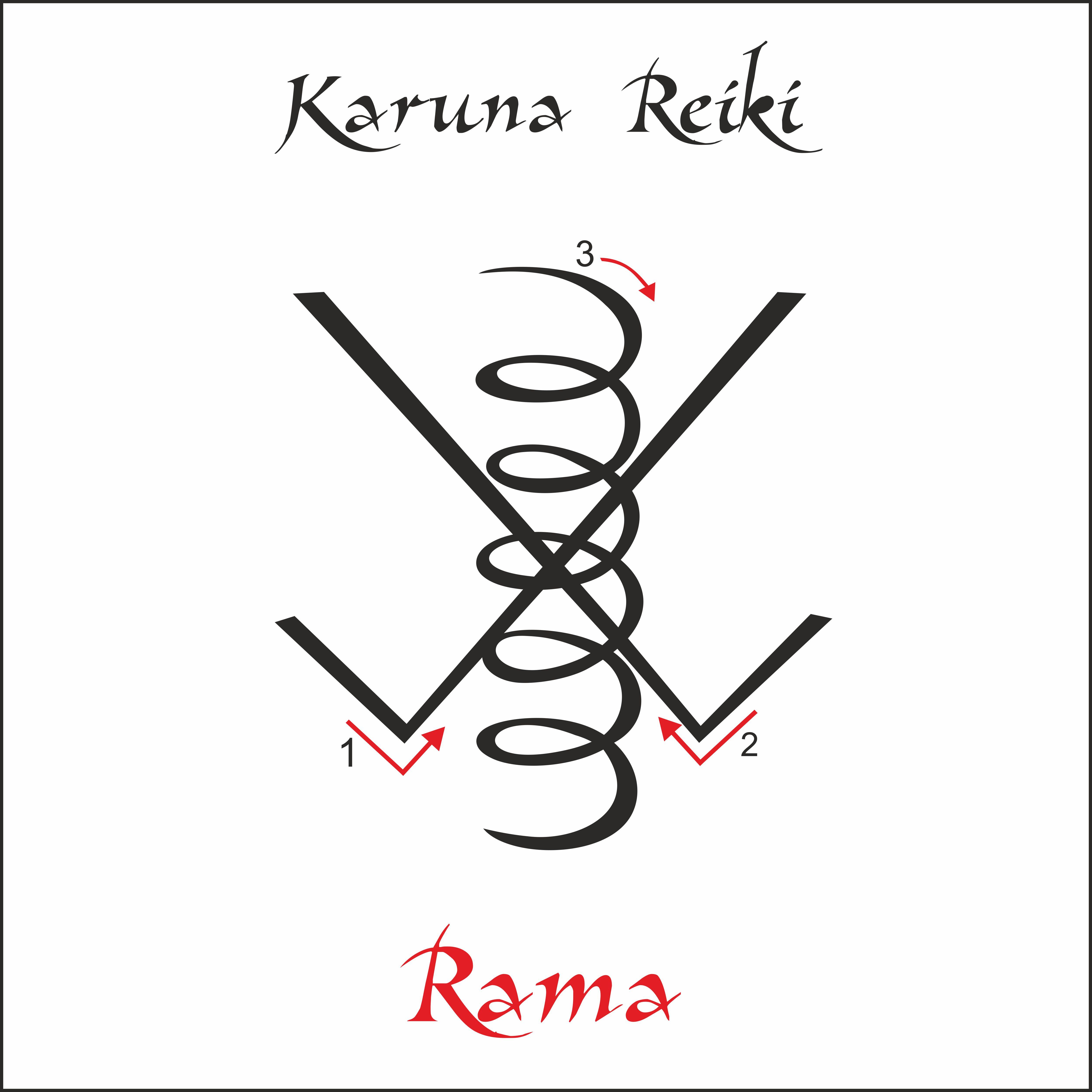 Karuna Reiki. Energy healing. Alternative medicine. Rama