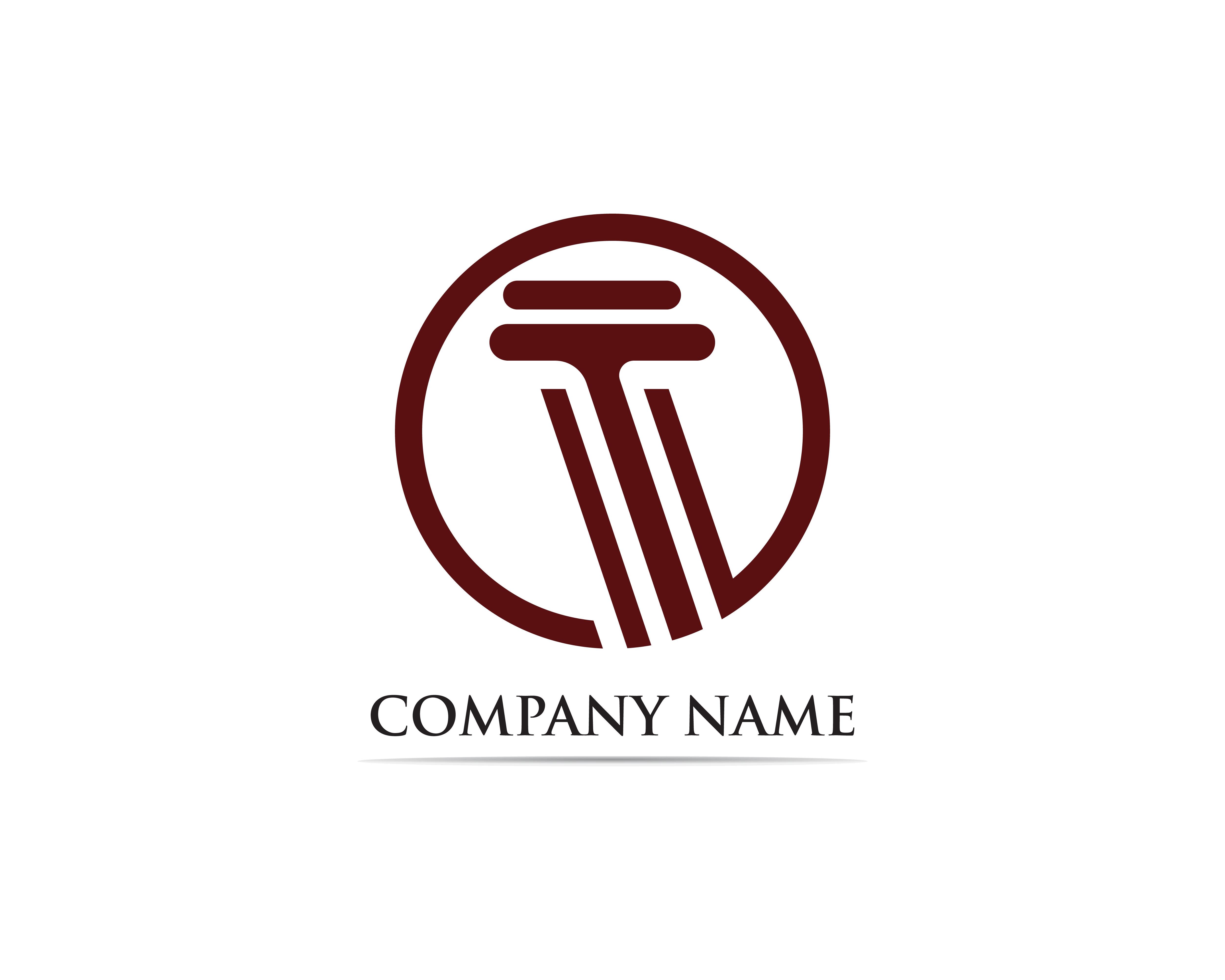 Column Logo Template Vector Illustration