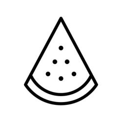 Watermelon slice vector tropical related line style icon Download Free Vectors Clipart Graphics & Vector Art
