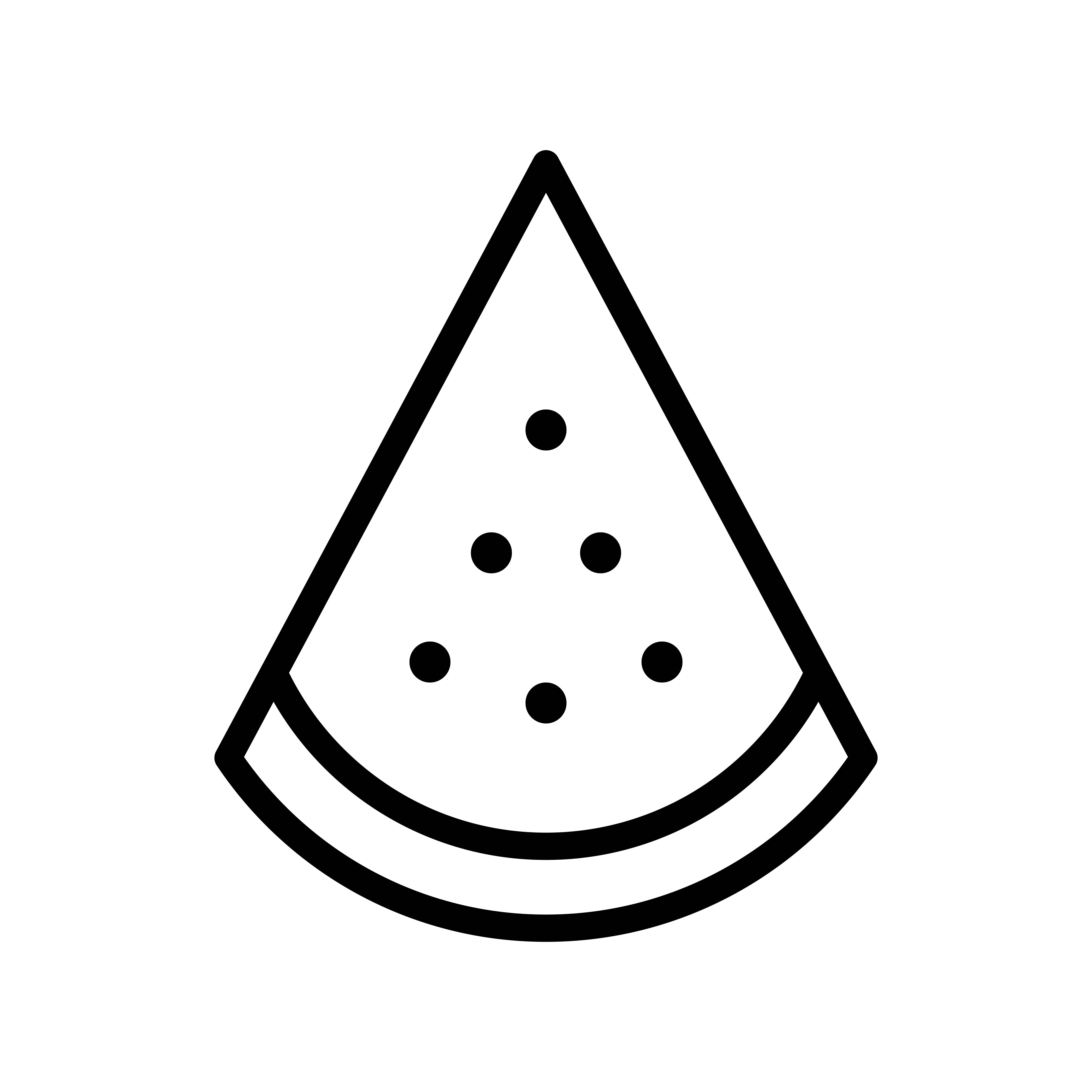 Watermelon Slice Vector Tropical Related Line Style Icon