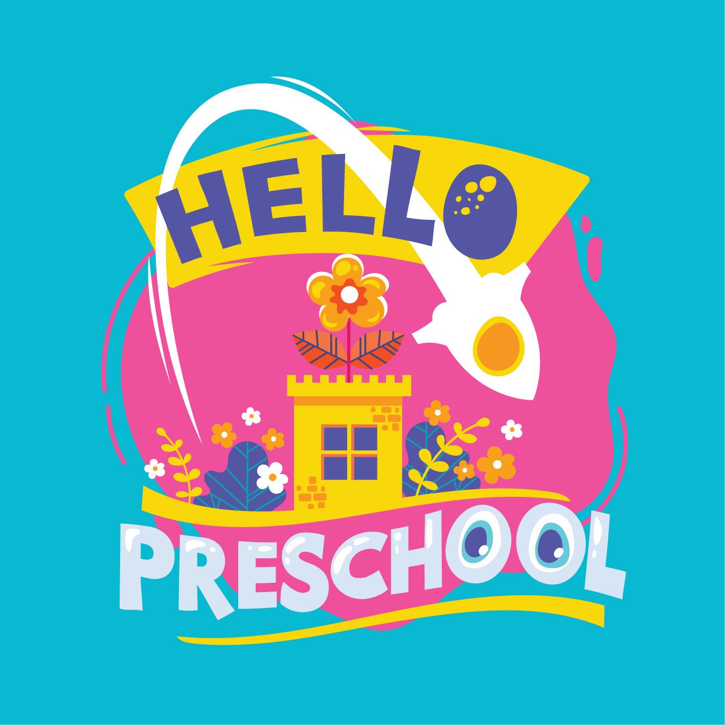 Hello Preschool Phrase Illustration Back To School Quote