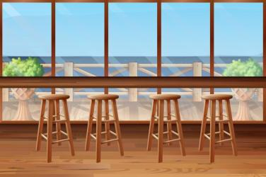 Inside of restaurant with stools and bar Download Free Vectors Clipart Graphics & Vector Art