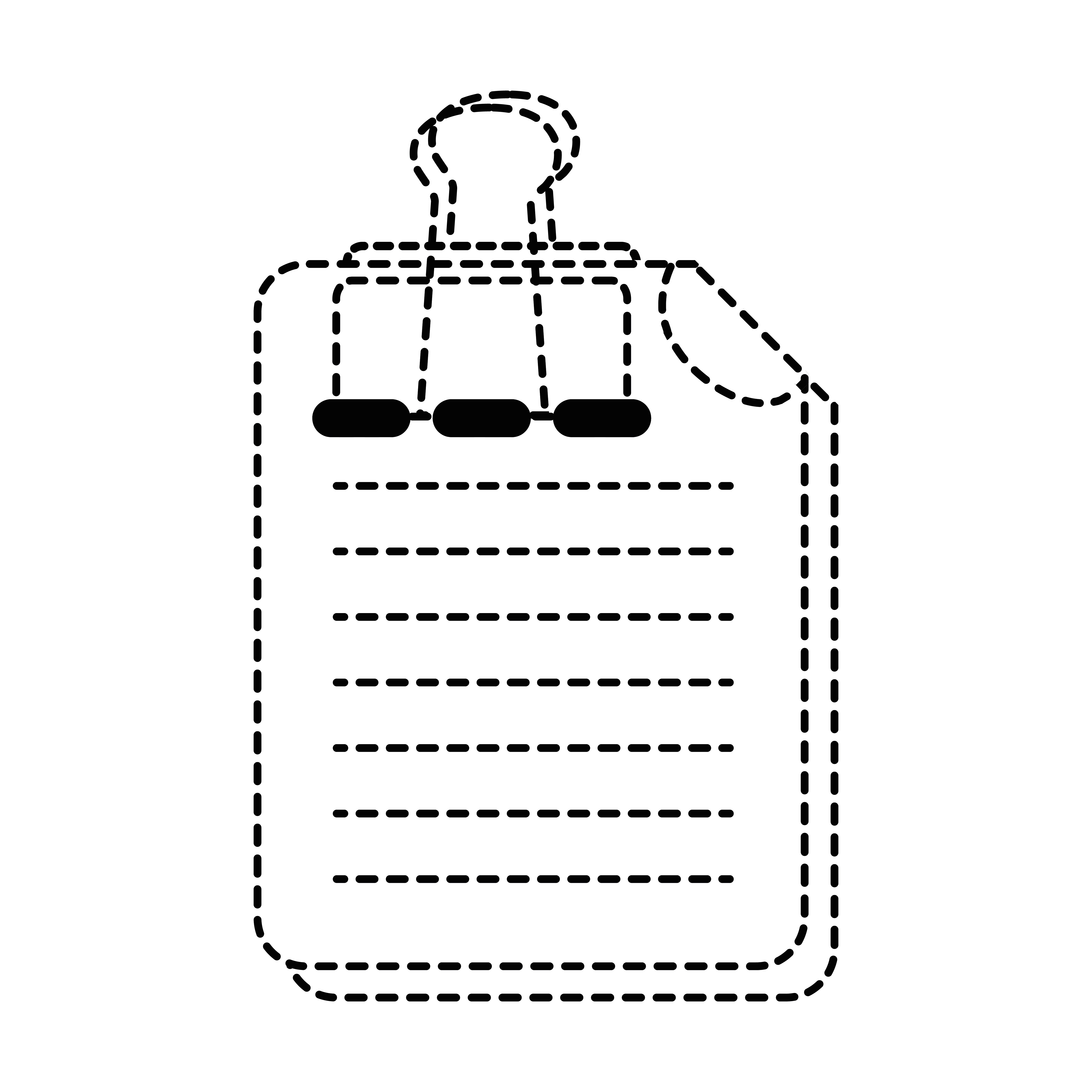 dotted shape business document information with clip