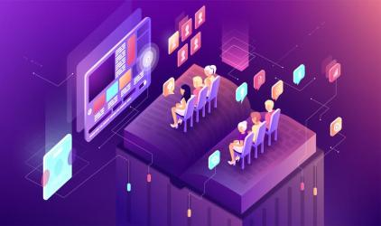 Vector illustration gradient isometric business presentation slide research book graph infographic design learning study education work display audience viewer listener screen sale icon advertising Download Free Vectors Clipart Graphics & Vector