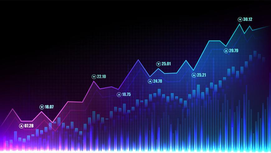 stock market graphic concept