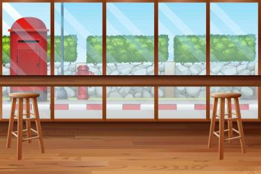 Inside of restaurant with bar and chairs Download Free Vectors Clipart Graphics & Vector Art