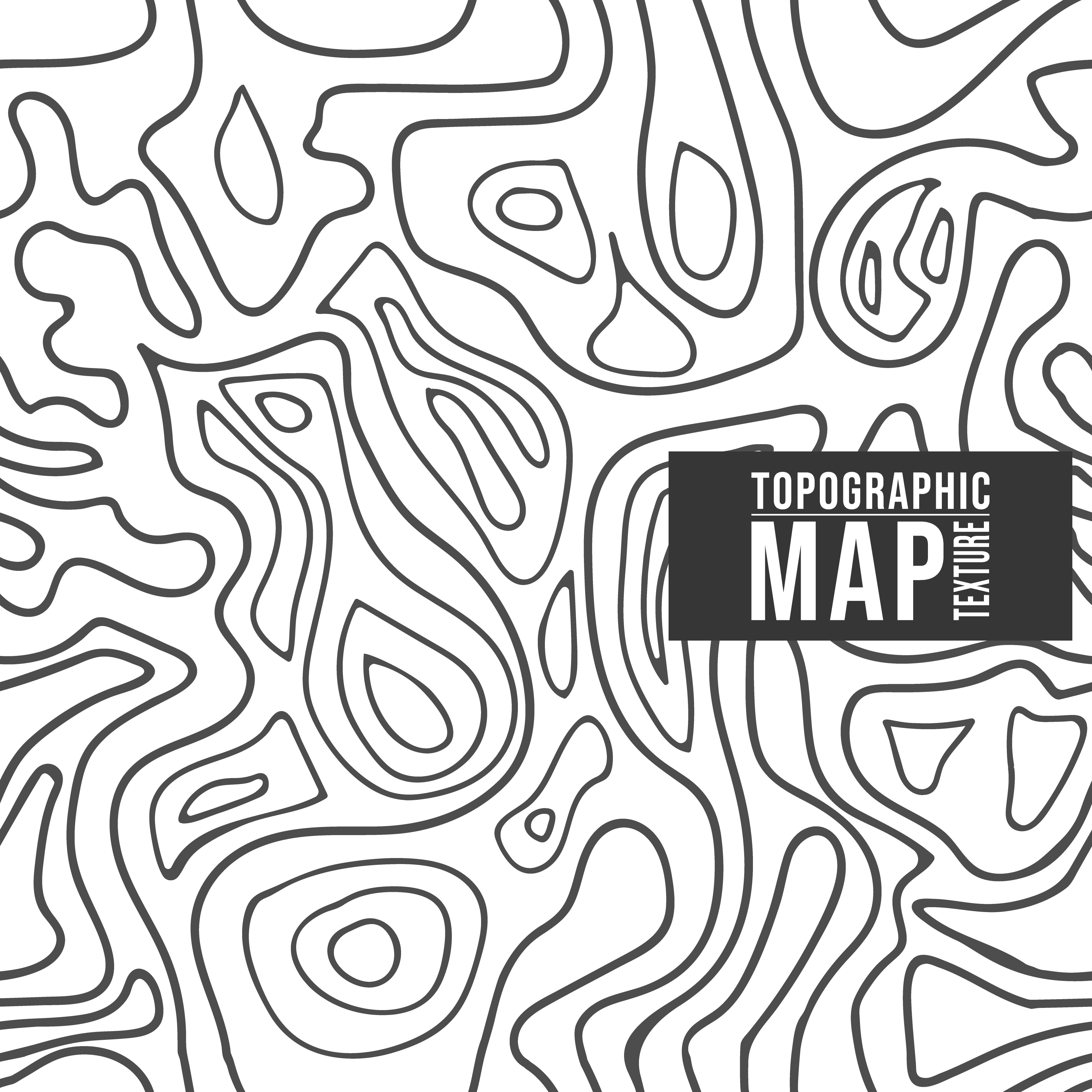 Topographic Map Pattern Seamless Background With Contour