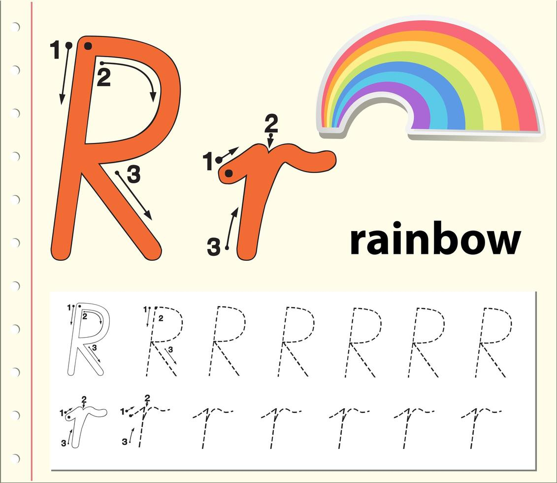 Letter R Tracing Alphabet Worksheets