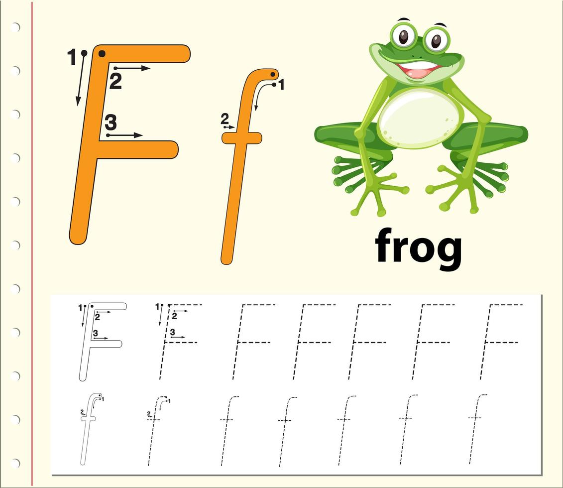 Letter F Tracing Alphabet Worksheets