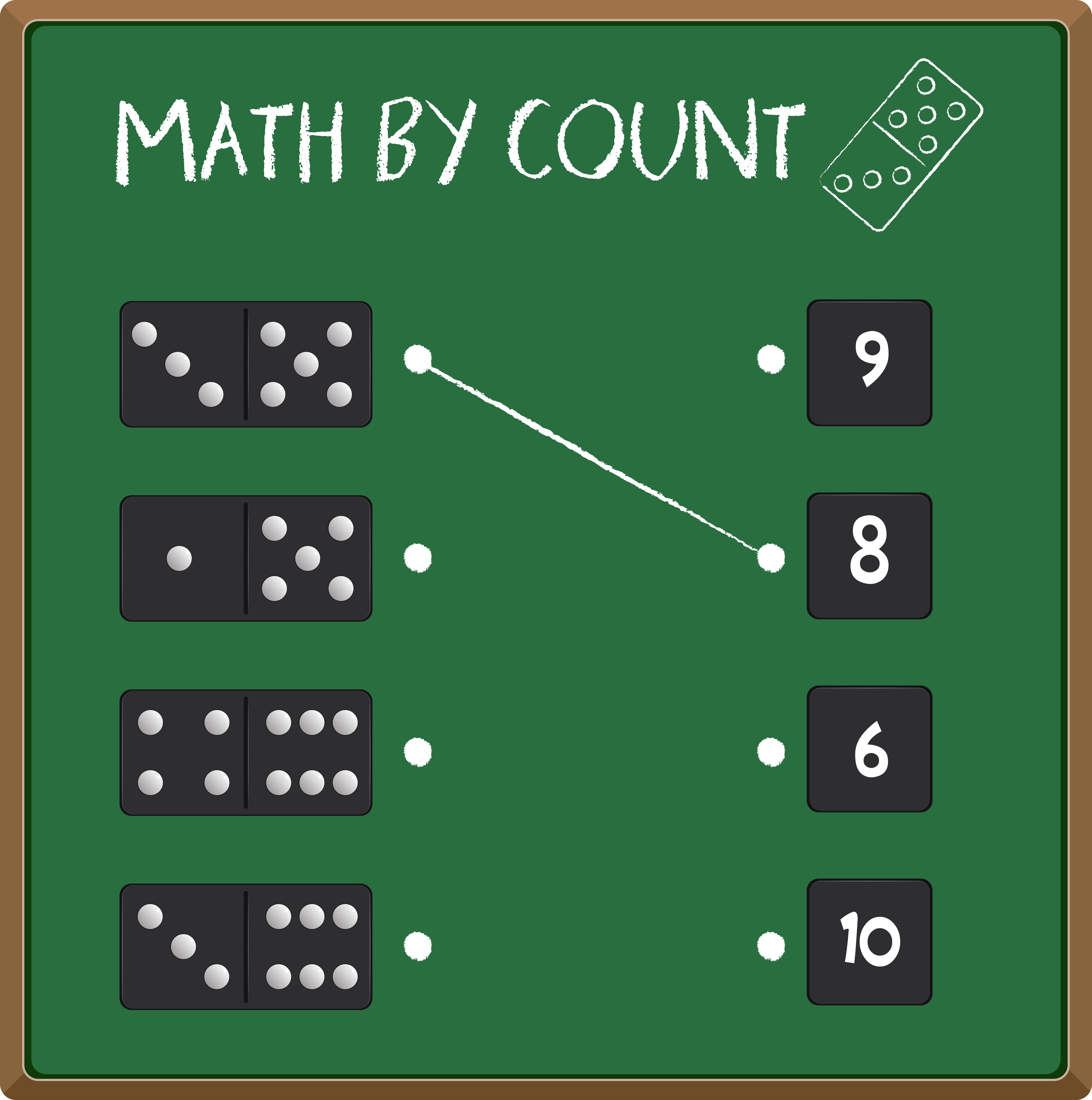 Match Domino Number Worksheet