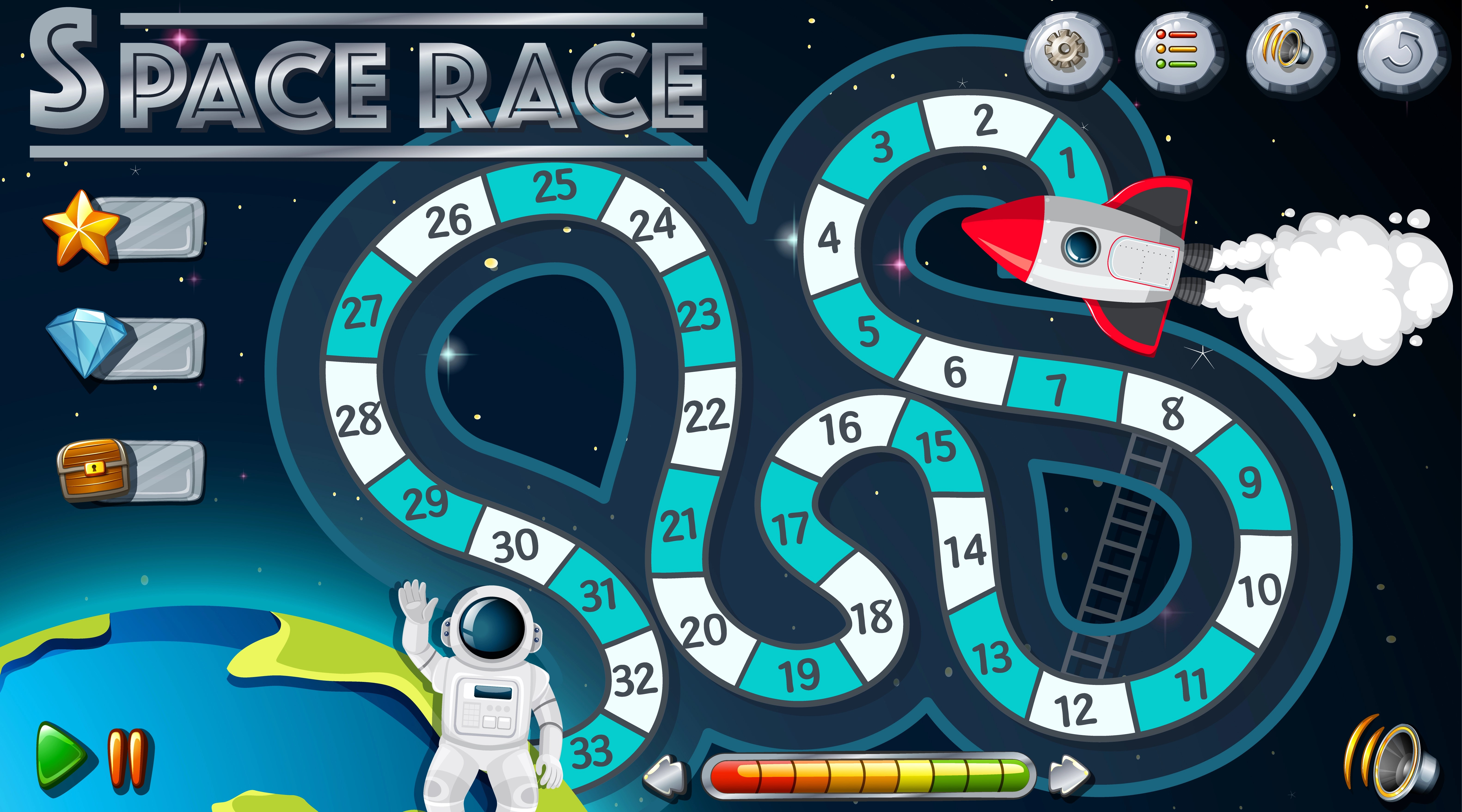 Space Race Board Game Template