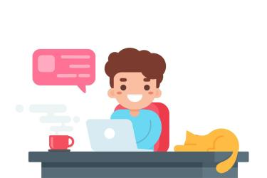 Man Working from Home in Cartoon Style Download Free Vectors Clipart Graphics & Vector Art