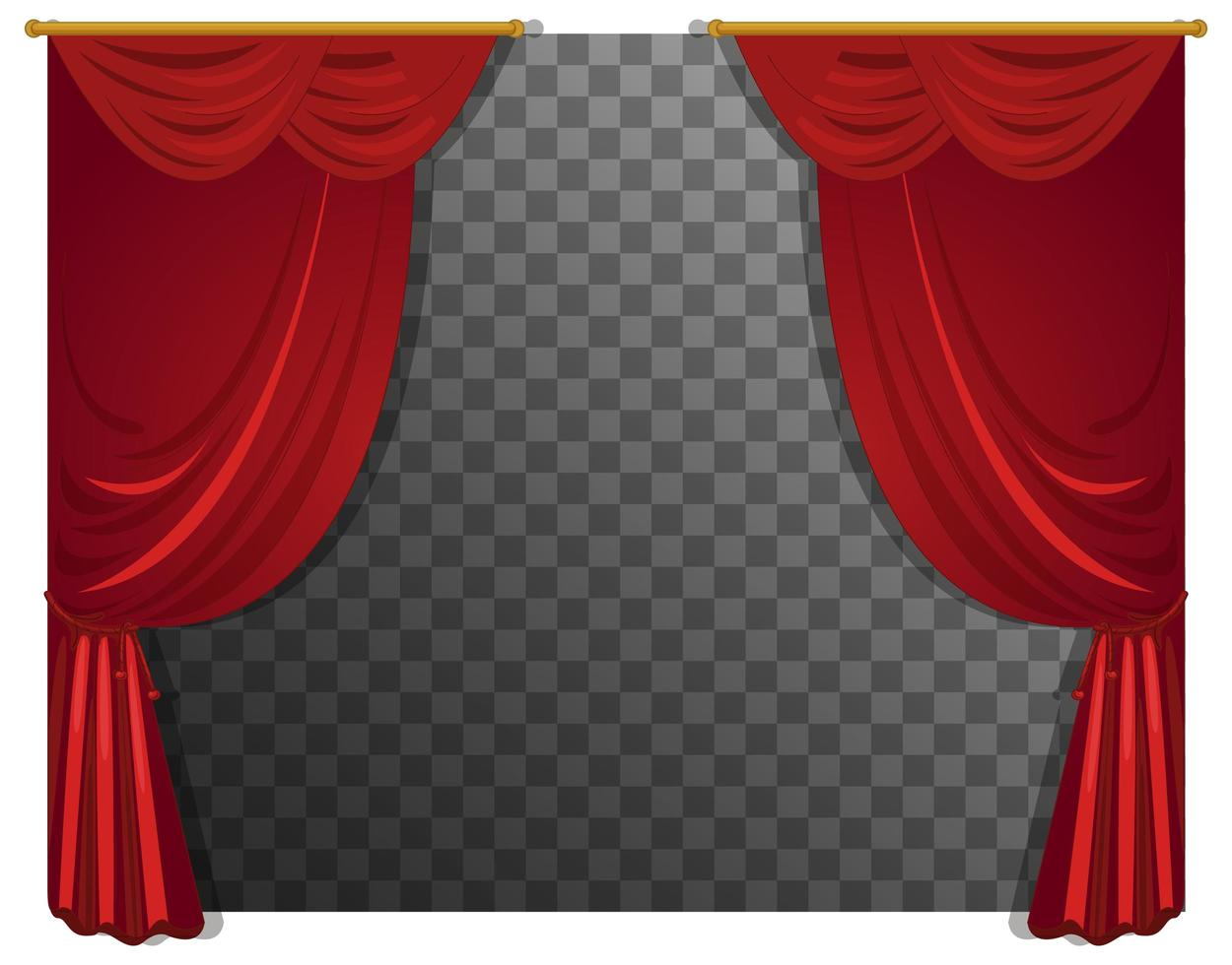 https www vecteezy com vector art 1424281 red curtains with rod with transparent background
