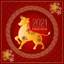 Golden Ox Chinese New Year Illustration - Download Free Vectors, Clipart  Graphics & Vector Art