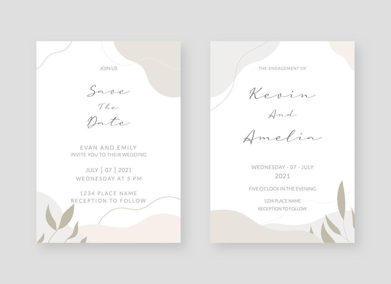 https www vecteezy com vector art 2065514 invitation card template set of wedding invitation card template design vector decorative design background