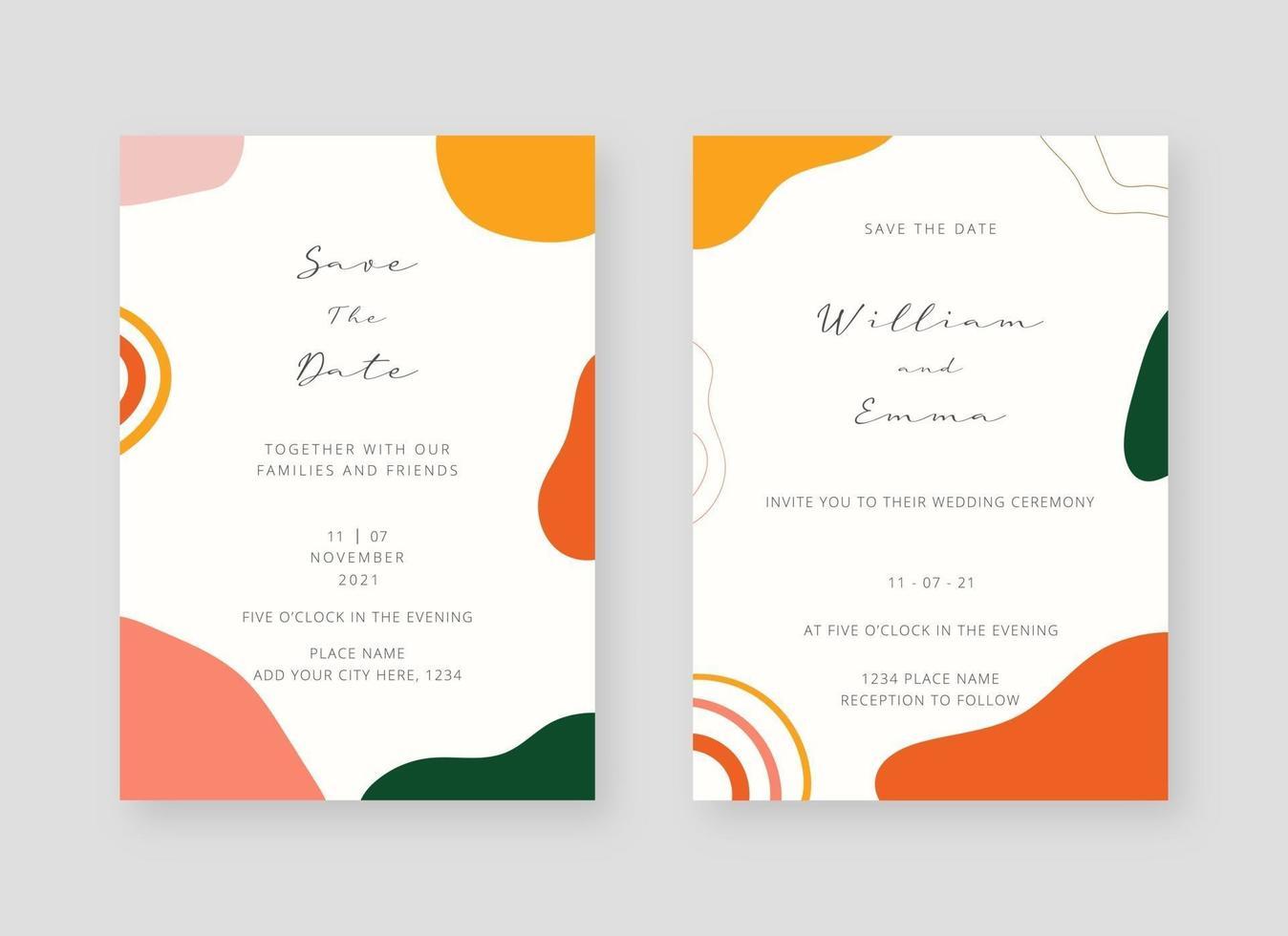 https www vecteezy com vector art 2065767 invitation card template set of wedding invitation card template design vector decorative design background