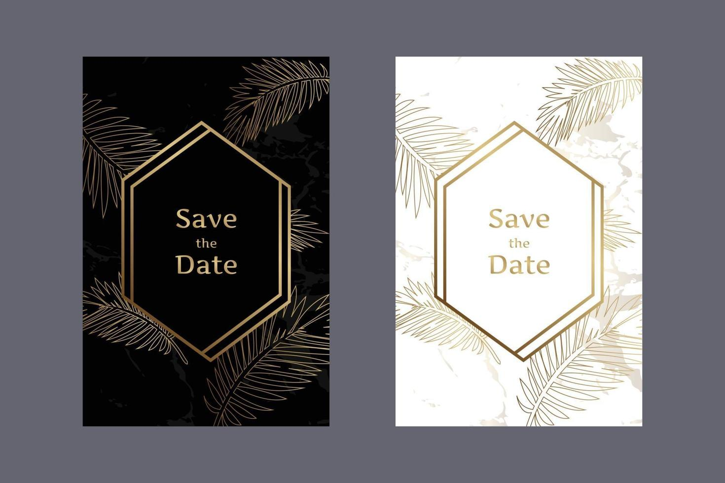 https www vecteezy com vector art 2067486 elegant wedding invitation cards black and white background marble pattern with gold leaves and geometric frames vector design template