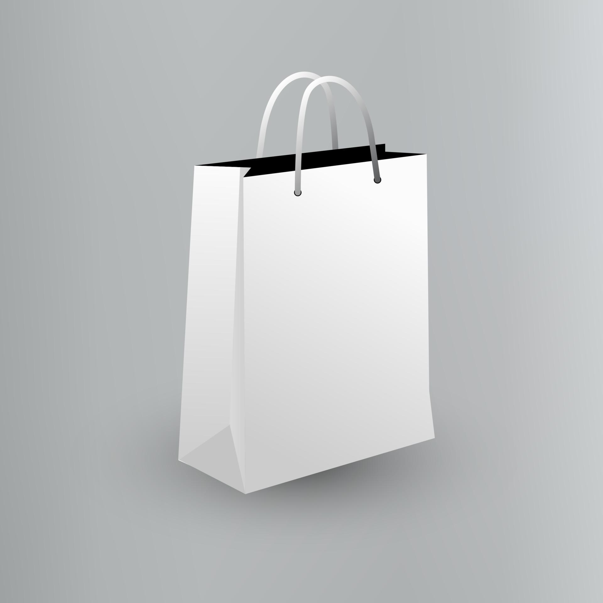Snack product packing vector eps10 kraft paper takeaway bag mockup in vector. Empty Shopping Bag Mockup Design Template 2089575 Vector Art At Vecteezy
