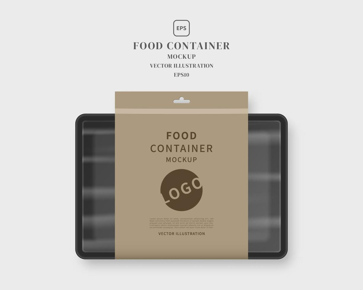 Clear sheet mock up in acrylic transparent coin holder. Food Container Mockup With Label Food Tray With Blank Paper Mockup Vector Isolated Template Design Realistic Vector Illustration 2196172 Vector Art At Vecteezy