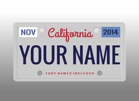 license plate free vector