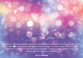 Colorful Abstract Bokeh Background vector