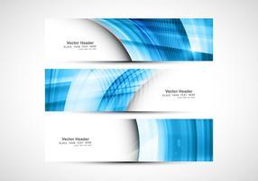 Blue Wave On Header Untuk vektor Website