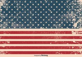 american flag free vector