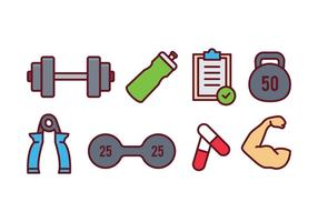 Gym Icons Free Vector Art 142 499 Free Downloads