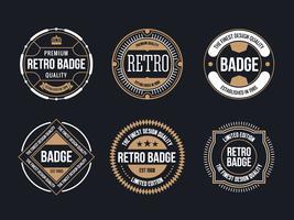 vintage badge free vector