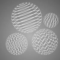 wireframe sphere free vector