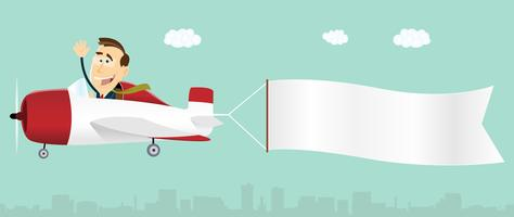 airplane banner free vector