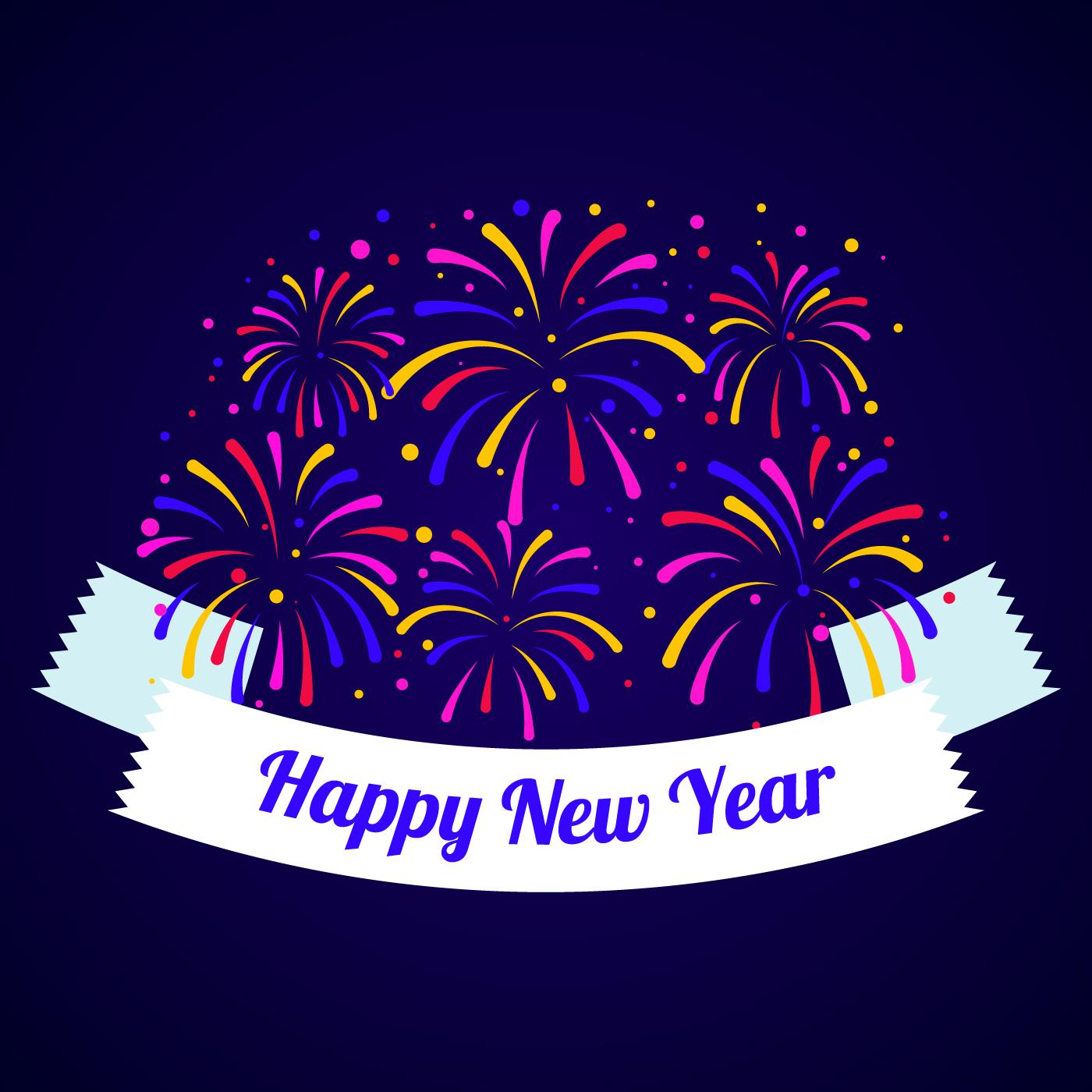 Happy New Year Fireworks Download Free Vectors Clipart Graphics Vector Art