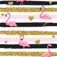 https www vecteezy com vector art 280102 gold glittering hearts and flamingos seamless pattern on striped background vector illustration