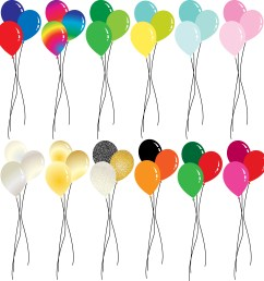 holiday balloon clipart download free vector art stock graphics images [ 3394 x 3535 Pixel ]
