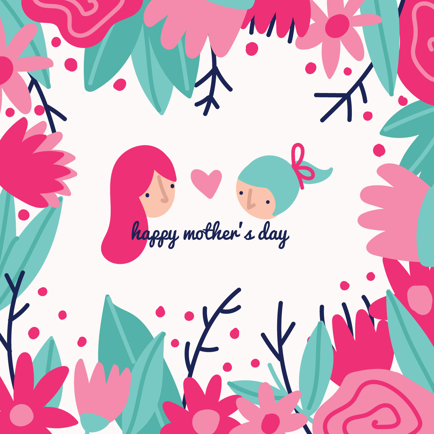 Colorful Mother S Day Drawing Download Free Vectors Clipart Graphics Vector Art