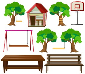 Seats and things in garden Download Free Vectors Clipart Graphics & Vector Art