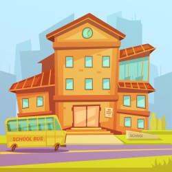 School Cartoon Background Download Free Vectors Clipart Graphics & Vector Art